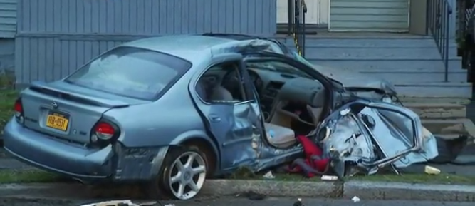 Three hospitalized after Schenectady crash